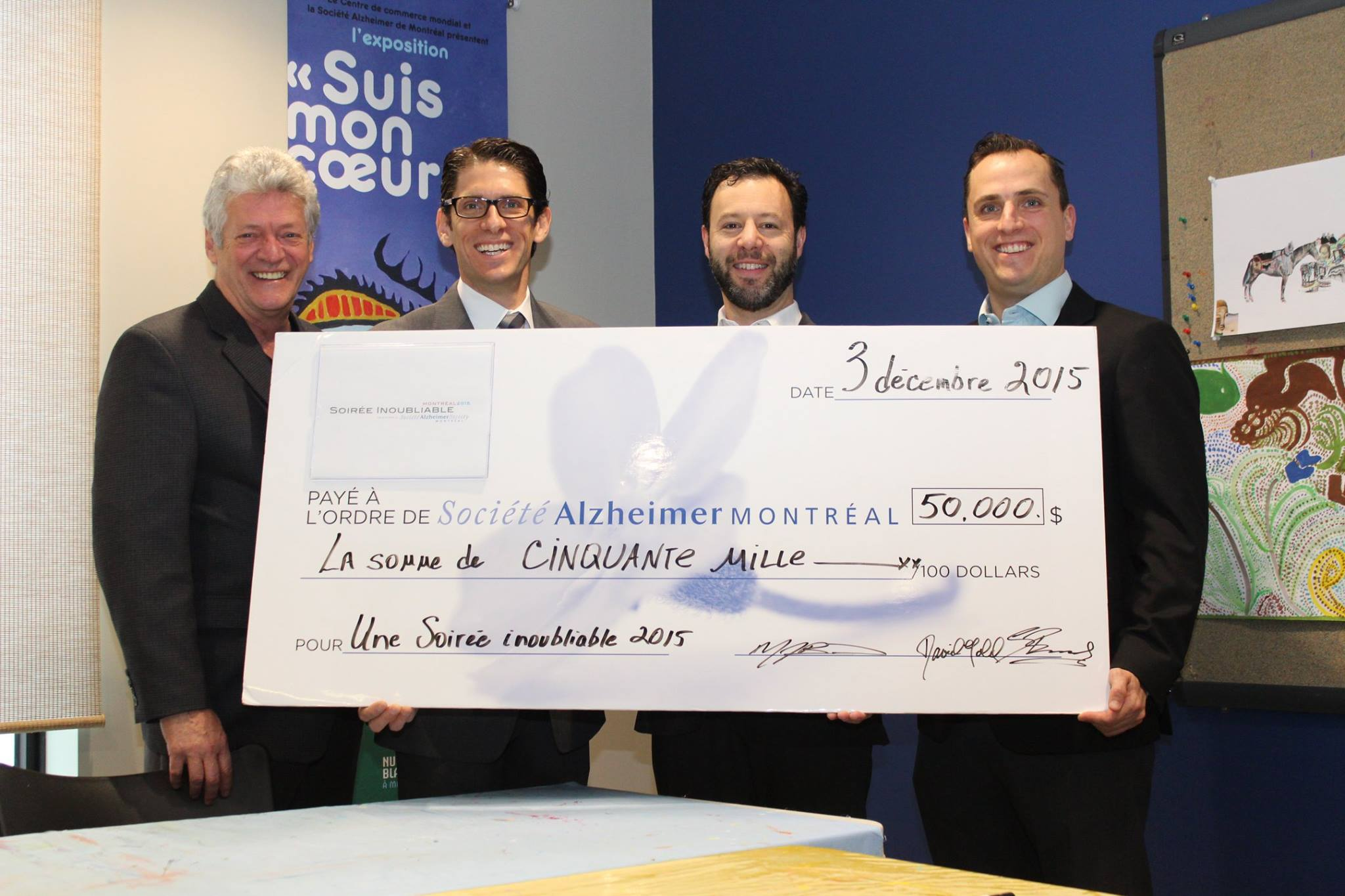 Big cheque for Alzheimer's